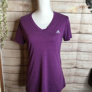 Adidas Ultimate Tee purple shirt size M